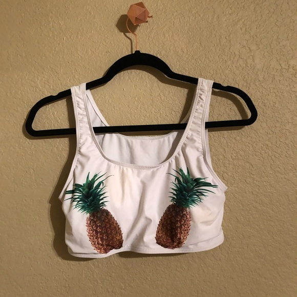SHEIN Other - Pineapple Swim Top